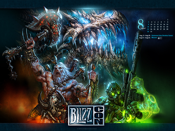 Обойки WoW Cataclysm с BlizzCon 2011