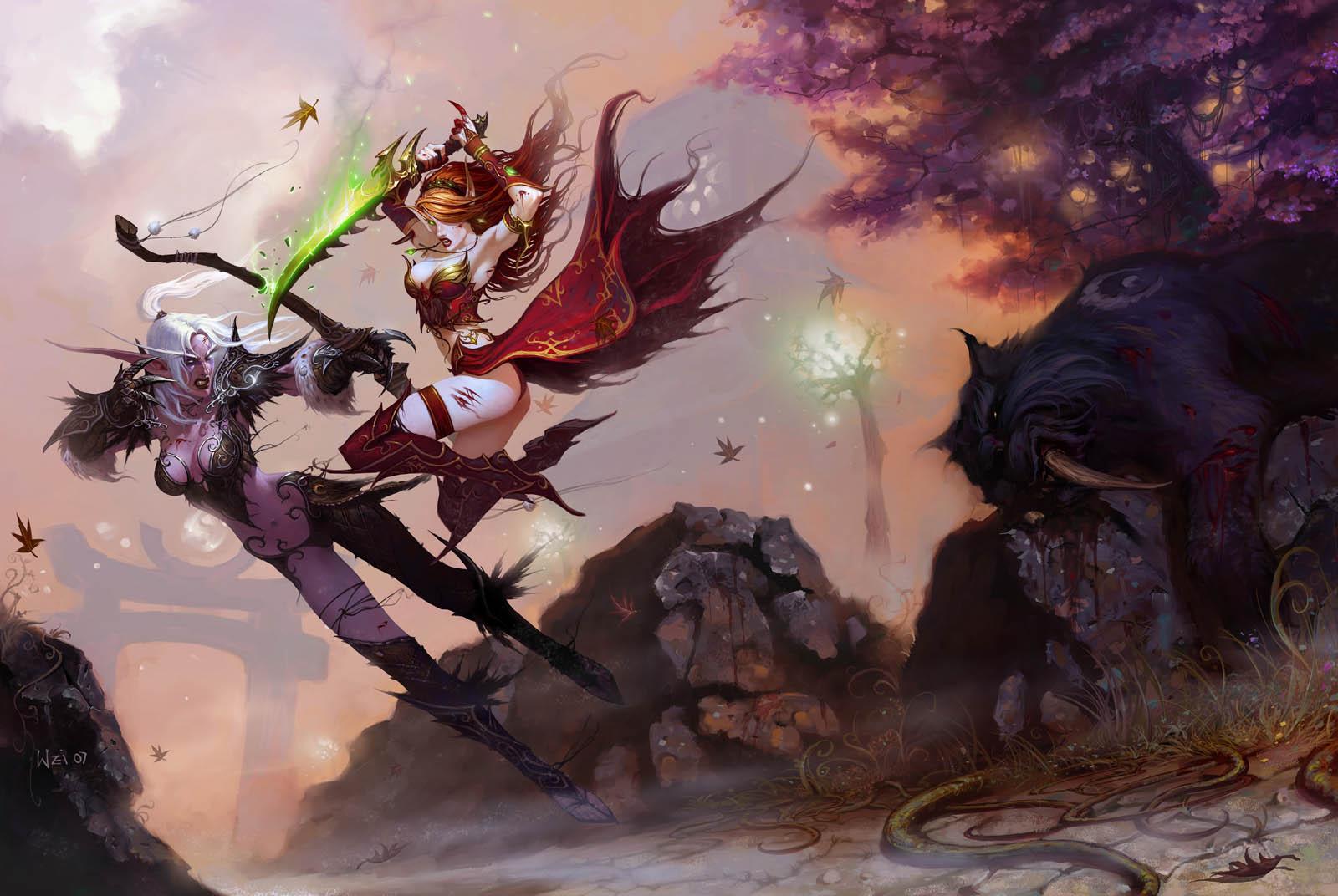 Night elves vs blood elves hentia tube