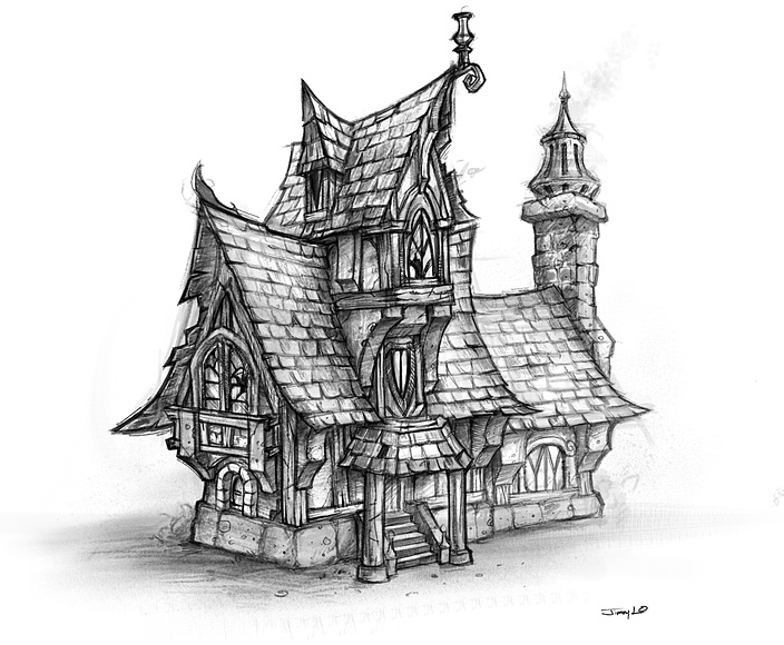 Fantasy architecture on pinterest medieval concept art for House sketches from photos